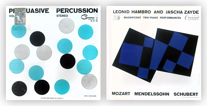 Album cover art by Josef Albers for Command Records