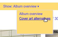 Show cover art alternatives