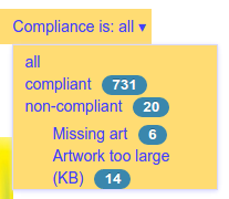 Filter for album compliance