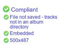 The 'File not saved- tracks not in an album directory' message