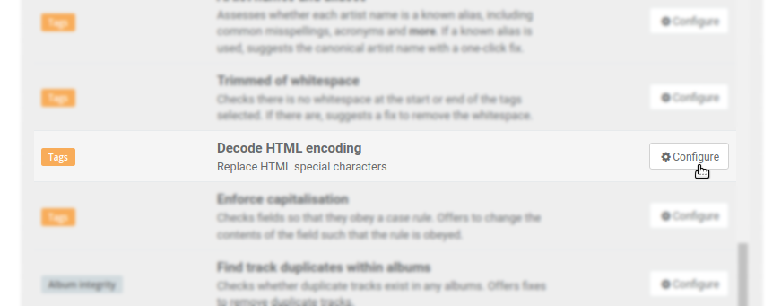 adding html rule to settings