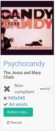 Non-compliant albums