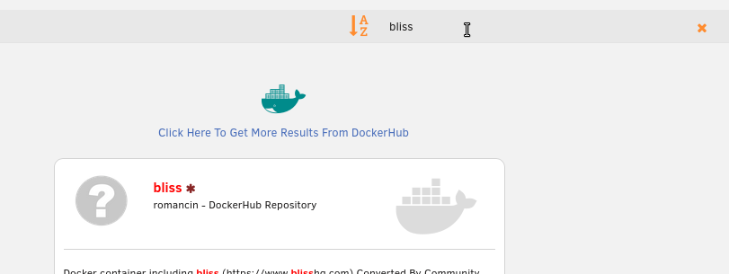 Searching Community Applications for bliss