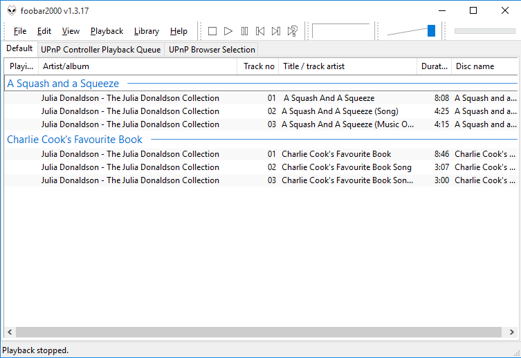 Grouping playlists by disc subtitle in foobar2000