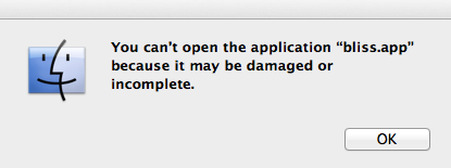You can't open the application