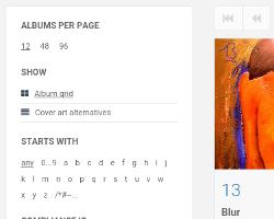Album overview filter