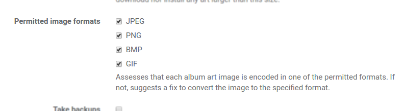 JPEG, PNG, BMP and GIF image formats permitted