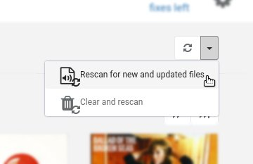 Rescan for new and updated files