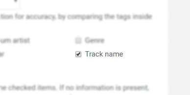 Enabling track name correction