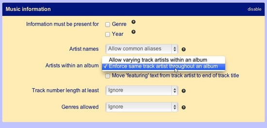 Enable track artist consolidation