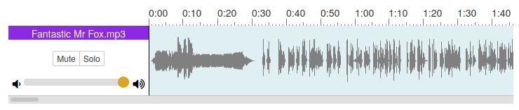 Audiobook waveform