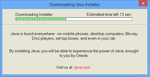 Installing a Java runtime environment