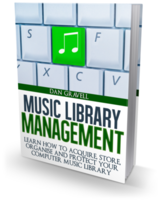 Music Library Management e-book box shot