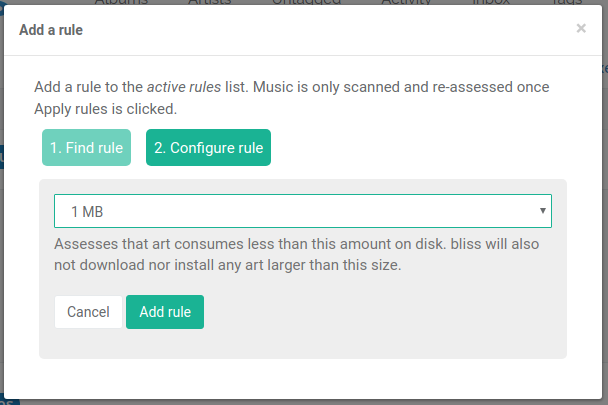 Max data size rule for FiiO