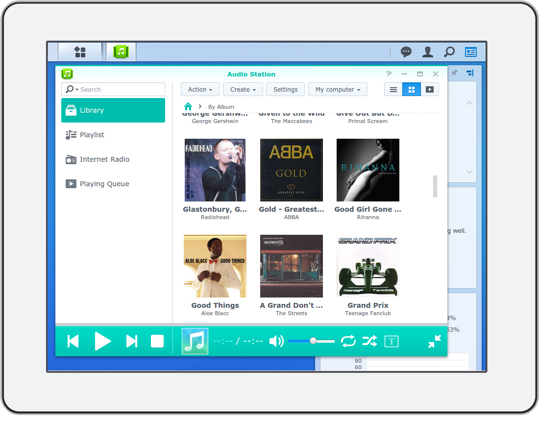 Albums organized by bliss for Synology Audio Station