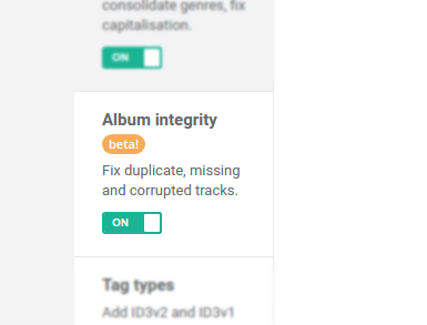 Ensure albums have no missing, duplicate or corrupt tracks